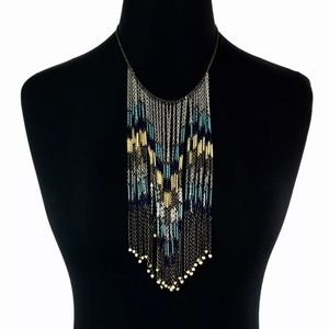 Express Silver Chain Statement Necklace Aztec